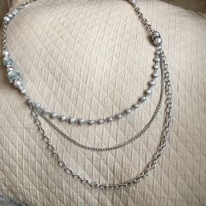 Silver Three Tiered Necklace
